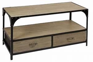 Meuble De Rangement Bas : meuble bas de rangement en bois imitation m tal ~ Dailycaller-alerts.com Idées de Décoration