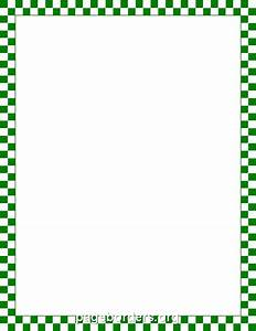 Green and White Checkered Border: Clip Art, Page Border ...