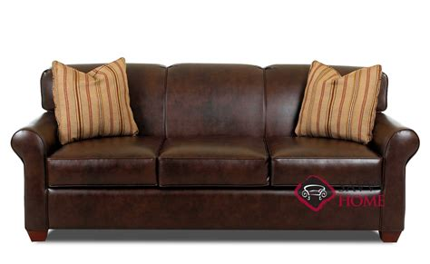 Calgary Leather Sleeper Sofas Queen By Savvy Is Fully