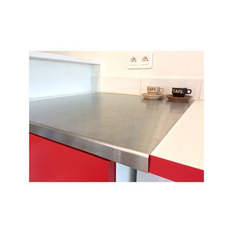 plan de travail cuisine inox sur mesure plan de travail inox brossé découpe sur mesures