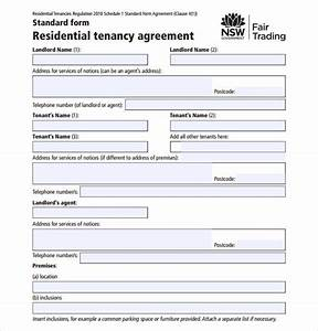 sample residential rental agreement 12 examples format With standard tenancy agreement template