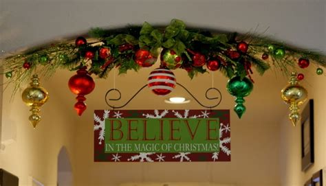 christmas archways archway decorations decor picture to