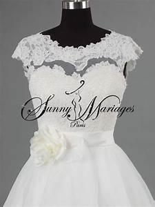 Robe Mariage Dentelle : robe mariee princesse dentelle et tulle avec petite manche ~ Mglfilm.com Idées de Décoration