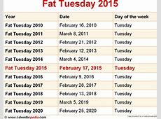 When is Fat Tuesday 2016 & 2017? Date of Fat Tuesday 2016
