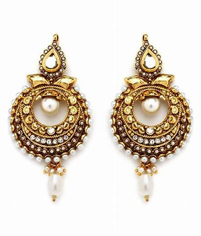 Earrings Ethnic Temple Golden Jewels