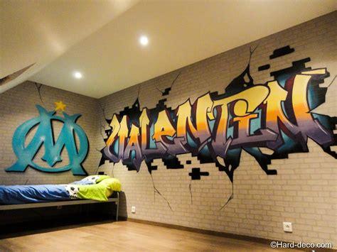 chambre graffiti chambre olympique de marseille deco
