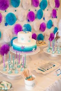 Sweet Table from a Frozen Birthday Party via Kara's Party ...