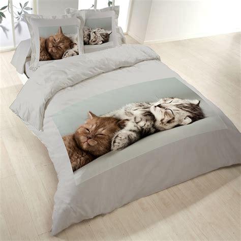 housse de couette chatons 220x240 cm en polycoton les douces nuits de ma 233 linge de maison