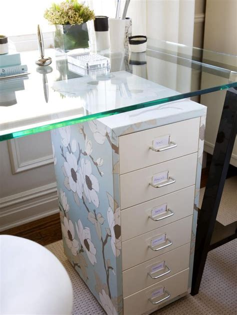 Office Desk Glass Cover by Chic Storage Solutions House General Diy Filing