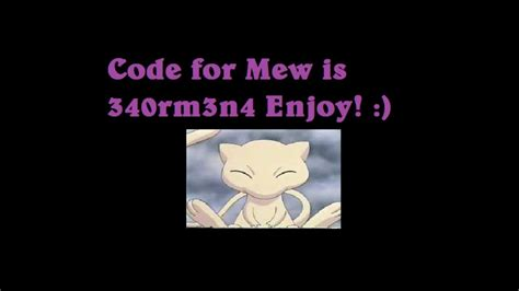 mystery pokemon gift code mew defense tower ptd