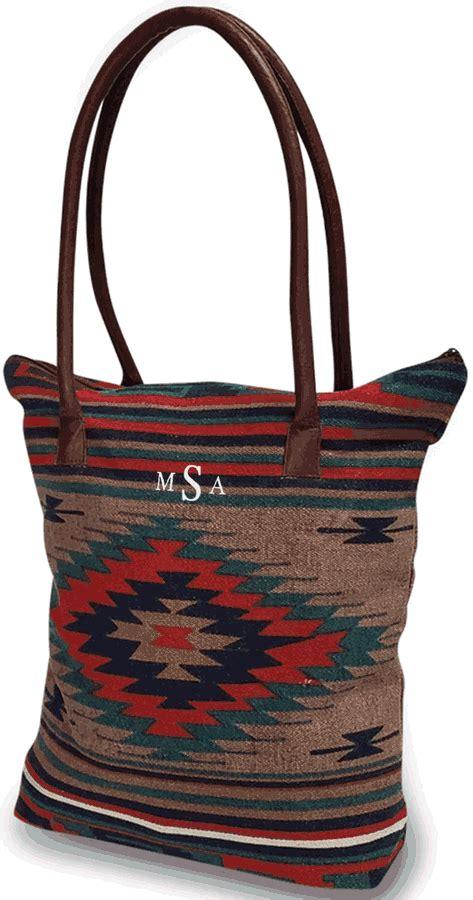 southwestern design tote bagmonogram