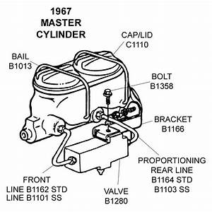 1967 Master Cylinder - Diagram View
