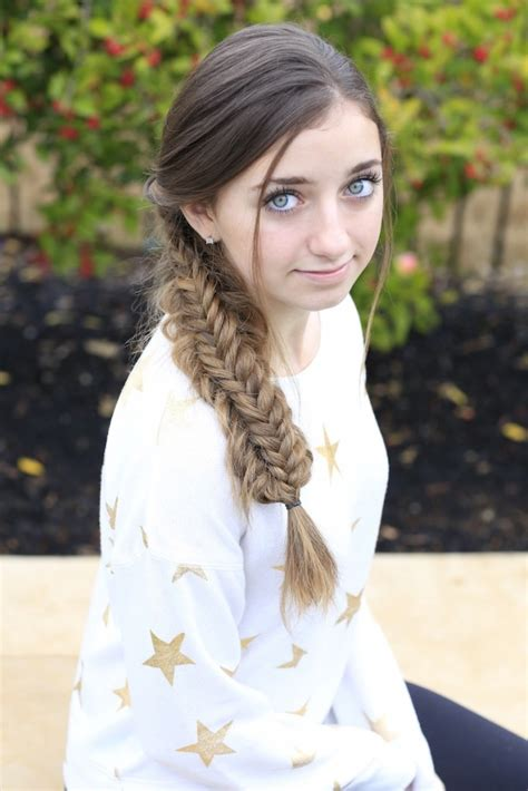 how to create a messy split fishtail cute girls hairstyles