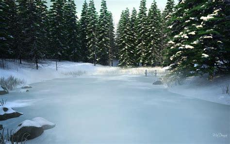 hd frozen pond wallpaper