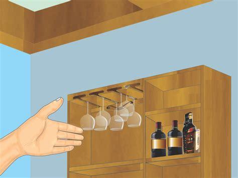 como hacer  estante colgante  copas de vino