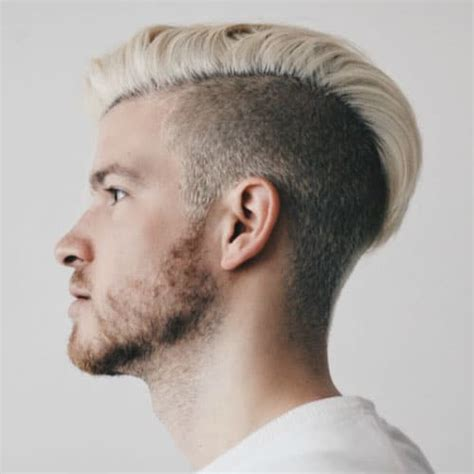 bleached hair  men blonde platinum dyed hairstyles