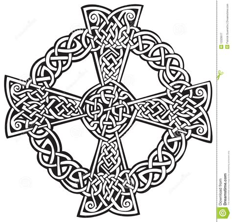 Celtic Cross stock vector. Illustration of intertwined ...