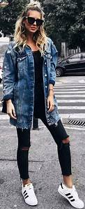 Best 25+ Long denim jacket ideas on Pinterest | Womenu0026#39;s 90s clothes Denim winter dresses and ...