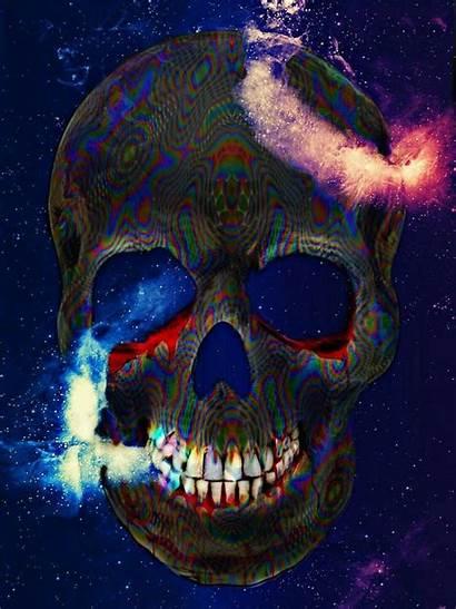 Skull Grim Reaper Psychedelic Voluptuous Ghoul