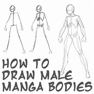 How to Draw Anime Body with Tutorial for Drawing Male ...