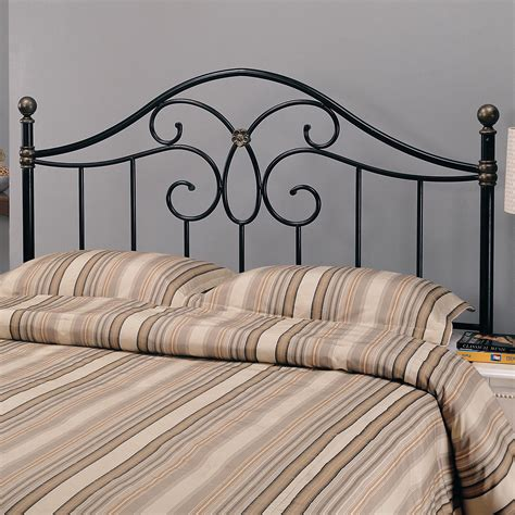 coaster iron beds and headboards full queen black metal