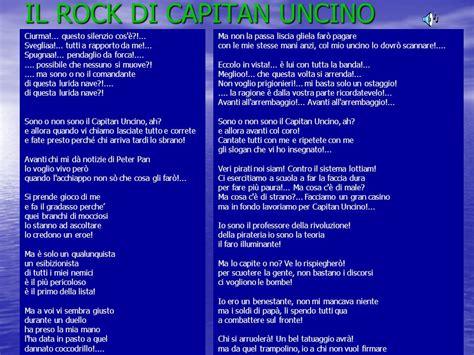 il rock capitano uncino testo la 2nde mael andrea emile tara esteban ppt