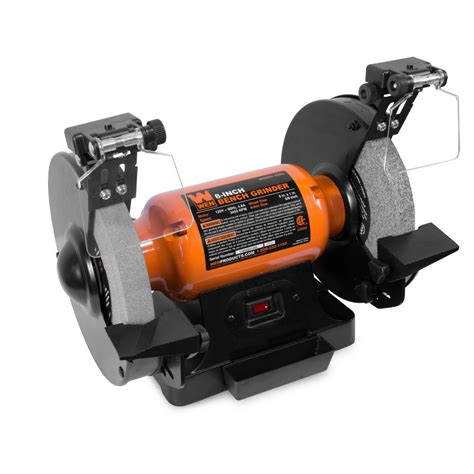 Grinder Bench by Wen 4 8 8 In Bench Grinder With Led Work Lights And