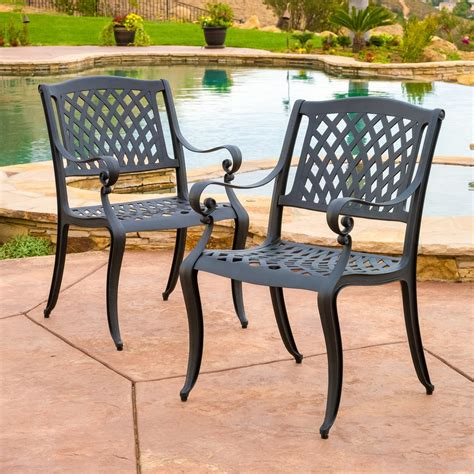 marietta outdoor cast aluminum dining chair set of 2