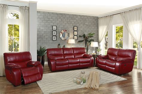 Leather Reclining Sofa Sets by Homelegance Pecos Power Reclining Sofa Set Leather Gel