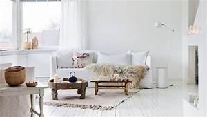Tapis Salon Scandinave : 1001 photos et conseils d 39 am nagement d 39 un salon scandinave ~ Teatrodelosmanantiales.com Idées de Décoration