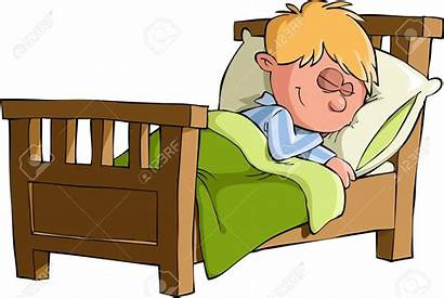 Bed Clipart Asleep Woman Coucher Se Cartoon