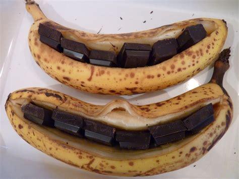 dessert avec banane et chocolat la banane r 244 tie au chocolat et au miel michtoblog