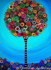 Art Et Vie Messanges : l 39 art populaire mexicain arbre de vie bar mitsvah par prisarts projets essayer pinterest ~ Nature-et-papiers.com Idées de Décoration