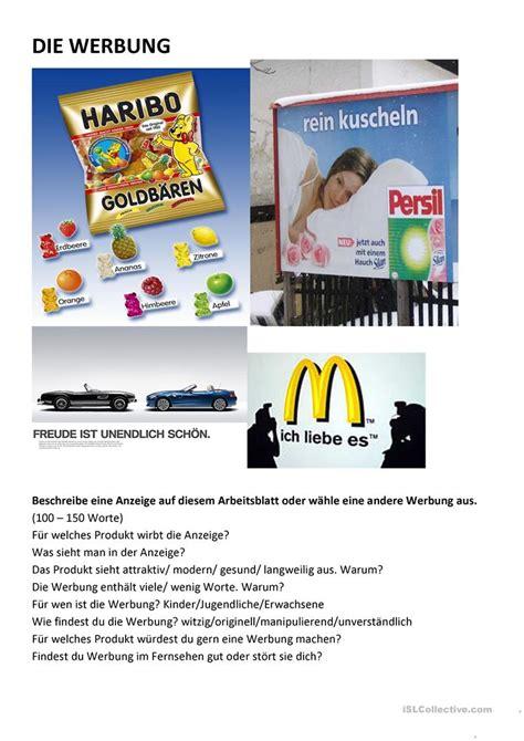 englisch für kindern kostenlos werbung arbeitsblatt kostenlose daf arbeitsbl 228 tter