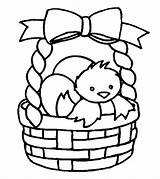 Easter Coloring Basket Pages Toddler Printable sketch template