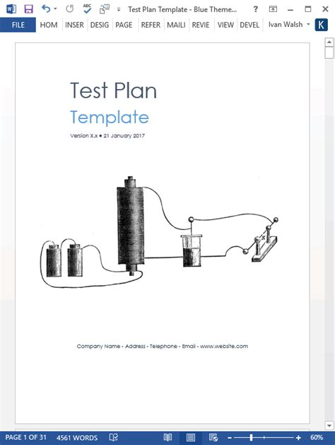 test plan templates ms wordexcel templates forms