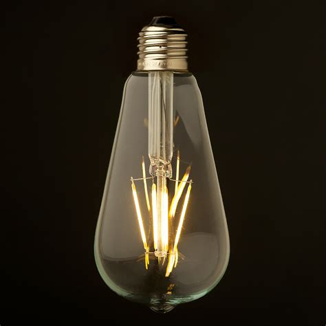 3 5 watt dimmable filament led e27 clear edison bulb