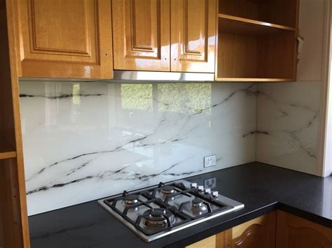 kitchen designs by decor marble design printed glass splashback for a kitchen 4649