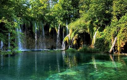 Forest Desktop Landscape Waterfall Backgrounds Wallpapers Scenery