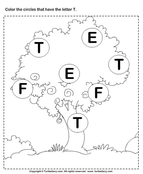 letter t activities identifying letter t worksheet turtle diary