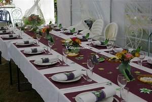Idee Deco Pour Mariage : decoration de table 50 ans mariage ~ Teatrodelosmanantiales.com Idées de Décoration
