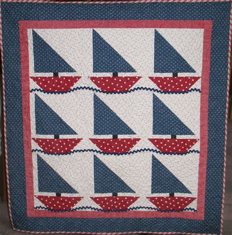 Sailboat Quilt by Sailboats For Baby Glointhedark Quilting