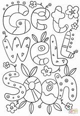 Soon Coloring Well Pages Doodle Printable Cards Card Template Better Printables Feel Hope Templates Cartoons Colouring Sheets Drawing Supercoloring Adult sketch template