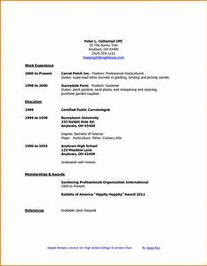 7 first time resume high school student