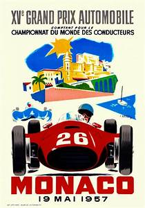 Grand Prix Automobile : 1957 monaco french grand prix art automobile race advertisement vintage poster ebay ~ Medecine-chirurgie-esthetiques.com Avis de Voitures