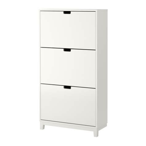st 196 ll shoe cabinet with 3 compartments white ikea