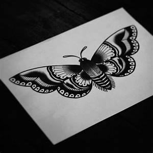 Traditional moth tattoo idea. | Tattoos | Pinterest