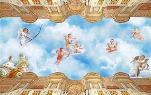 3d wallpaper photo wallpaper custom size ceiling room ...