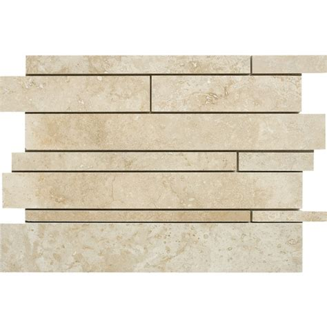 lowes canada travertine tile marble systems 5 pack 12 quot x 12 quot beige travertine