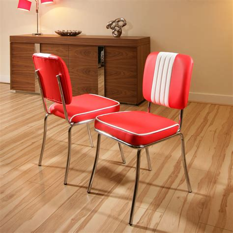 Set of 2 x American 50's Diner Style Dining ChairsChair